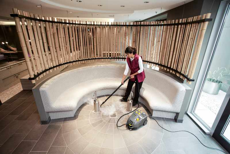 Steam cleaning a hotel or spa